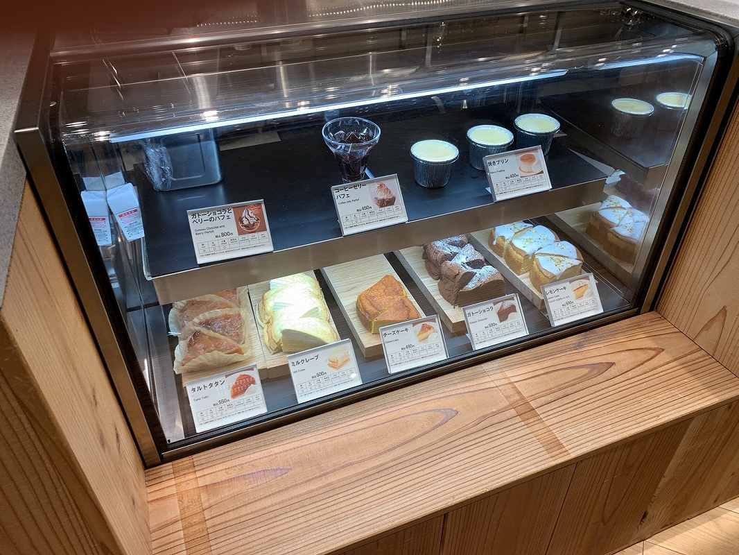 MUJI Cafeのケーキ