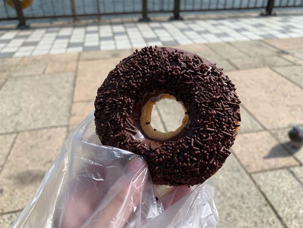 ポンパドールの チョコドーナツ