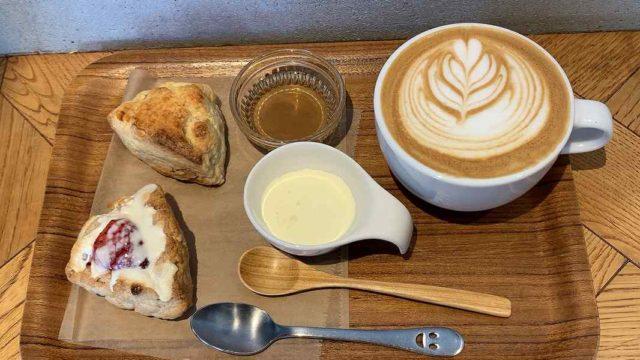 feb's coffee&sconeのスコーンセット