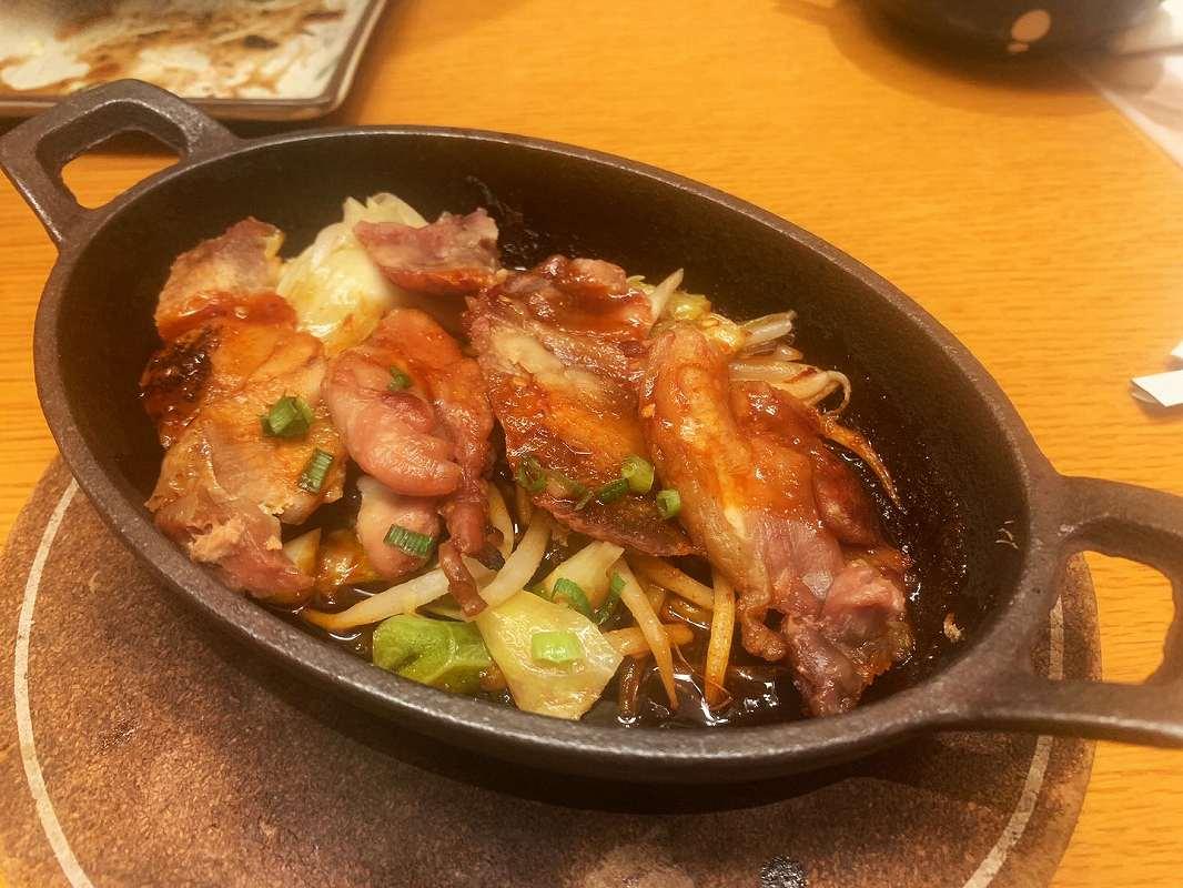 トサカモミジの鶏肉