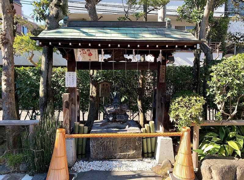 高木神社の水鉢